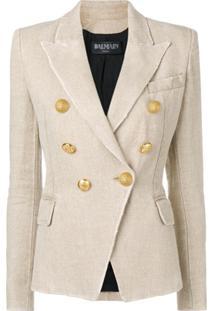 Balmain Button-Embellished Blazer - Neutro