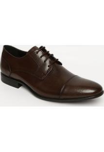 Sapato Social Em Couro Envernizado- Marrom Escuromr. Cat