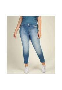 Calça Plus Size Feminina Jeans Skinny Razon