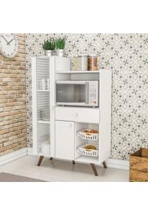Armário De Cozinha Multiuso 2 Portas 1 Gaveta Rt 3059 Branco - Móvel Bento