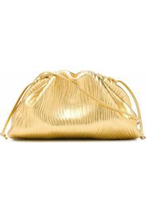 Bottega Veneta Bolsa Transversal The Pouch Mini - Dourado