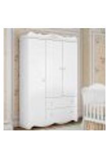 Guarda Roupa Infantil Classic Com 3 Portas - Branco