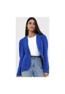 Blazer Morena Rosa Mangas Bufantes Azul