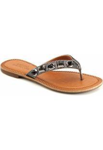 Rasteira Metalizada Sapato Show 393 - Feminino-Prata