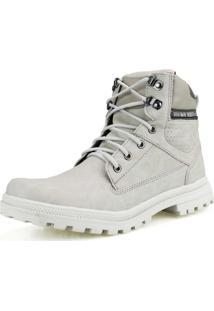 Bota Coturno Way Boots Off White Com Cadarço Resistente Cano Curto Branco