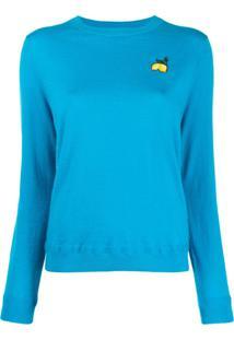 Chinti & Parker Suéter Com Detalhe De Patch - Azul