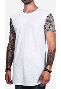 Camiseta Hermoso Compadre Longline Bandana Masculina - Masculino