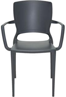 Cadeira Sofia- Grafite- 84,5X58,5X51Cm- Tramontitramontina