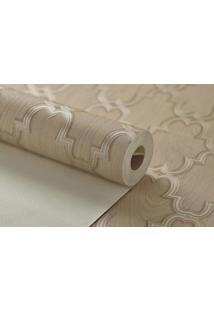 Papel De Parede Texturizado Maya Wallpaper 0,53 X 9,5M Marrom Claro