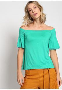 Blusa Ciganinha Com Renda - Verde - Thiptonthipton