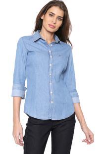 Camisa Jeans Dudalina Essentials 1 Azul