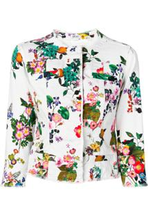 Liu Jo Jaqueta Kate Com Estampa Floral - Branco