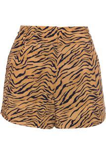 Short Feminino Tiger Laura - Animal Print