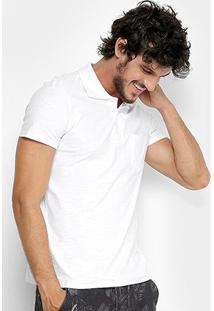 Camisa Polo Kohmar Flamê Masculina - Masculino-Branco