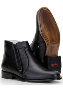 Bota Capelli Boots Em Couro Com Recortes Masculina - Masculino