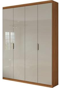 Guarda Roupa Alonzo Plus 4 Portas Rovere Naturale/Off White