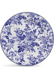 Jogo De Pratos Ceramica Rasos Ceramica Blue Garden 6Pcs Cj2 - Kanui