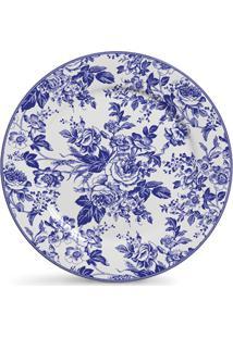 Jogo De Pratos Ceramica Rasos Ceramica Blue Garden 6Pcs Cj2