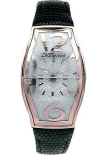 Relógio De Pulso Chronotech Prisma Flat - Aço Rose - Feminino-Prata+Rosa