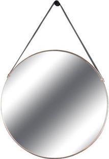 Espelho Redis Moldura Banhada Cor Rose 60 Cm (Larg) - 43552 - Sun House