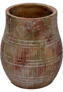 Vaso Decorativo- Marrom- 21Xø17,5Cmdecor Glass