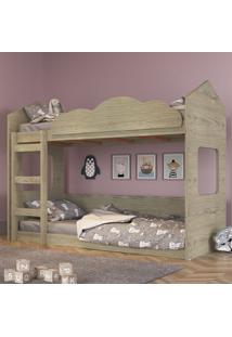 Beliche Infantil Casinha Com Escada De Quedas - Marrom - Dafiti