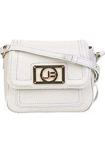 Bolsa Couro Jorge Bischoff Mini Bag Floater Basic Feminina - Feminino-Branco