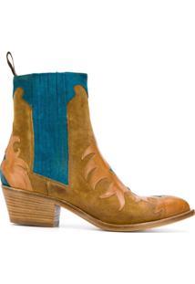 Sartore Ankle Boot Com Contraste - Neutro