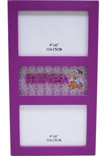 Porta Retrato Minas De Presentes Turma Da Mônica Roxo