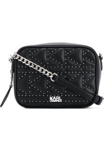 Karl Lagerfeld Bolsa K/Kuilted Com Tachas - Preto