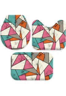 Jogo Tapetes Love Decor Para Banheiro Abstract Multicolorido Único