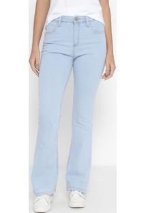 Jeans Flare Western Com Bolsos - Azul Clarowrangler
