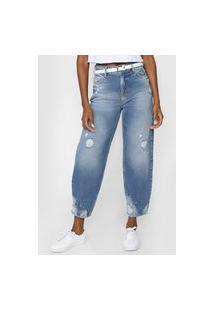 Calça Jeans Colcci Mom Anitta Azul