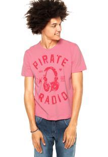 Camiseta Cavalera Pirate Radio Rosa