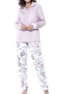 Pijama Feminino Podiun 5140 Rosé-Ouro