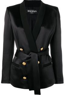 Balmain Tailored Belted Blazer - Preto
