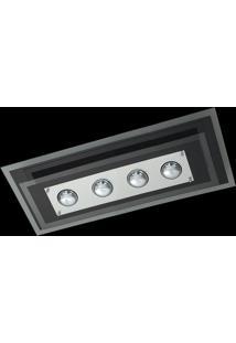 Plafon Saturno Aluminio E Vidro Pmr 138 Preto Bordado Bivolt