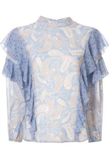 We Are Kindred Blusa Amalfi Com Babados - Azul
