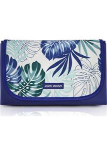 Tapete Para Piquenique Impermeável Jacki Design Tropicália Azul
