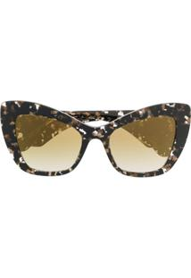 Dolce & Gabbana Eyewear Oversized Cat-Eye Sunglasses - Marrom
