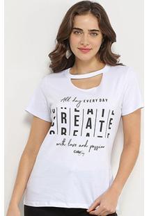 Camiseta Choker Coca-Cola Create Feminina - Feminino