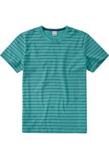 Camiseta Slim Listrada Malwee