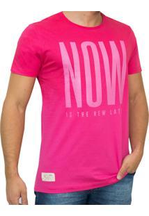 Camiseta Kevingston Parati Estampada Spray Manga Curta Pink Now
