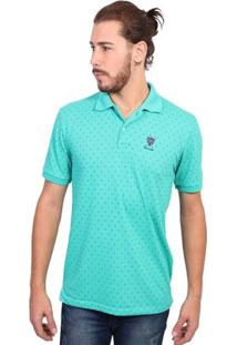 Camisa Polo New York Polo Club Full Print - Masculino-Verde