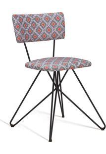 Cadeira Butterfly Preto E Laranja