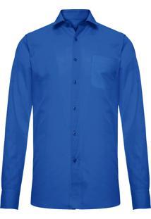 Camisa Masculina Linho - Azul