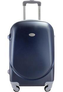 Mala Select - Azul Escuro & Cinza - 28X34X21Cm -Jacki Design