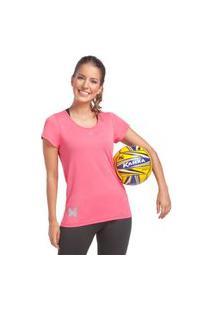 Camiseta Feminina Crep Rosa Camiseta Feminina Crep Rosa G