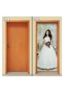 Adesivo Decorativo De Porta - Noiva - 1129Cnpt