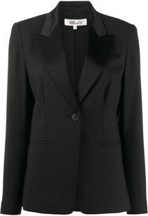 Dvf Diane Von Furstenberg Blazer Com Botão Único - Preto